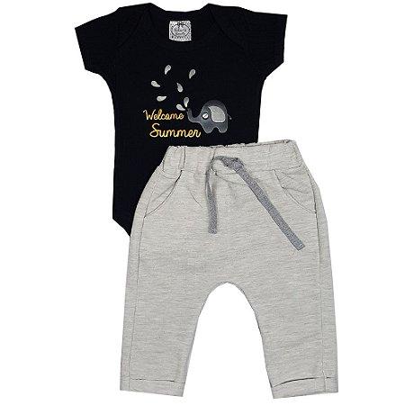 Conjunto Bebê Elefantinho Com Calça Saruel