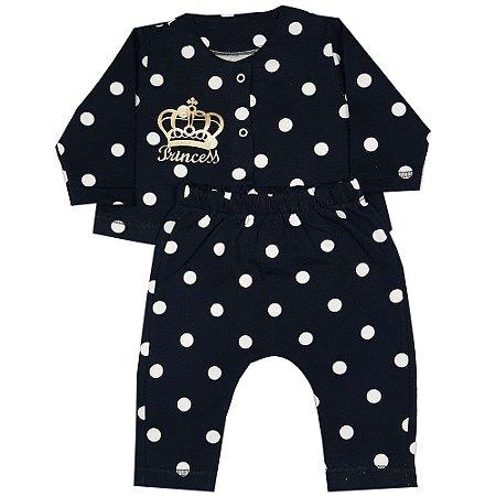 Conjunto Bebê Casaco E Calça Bola