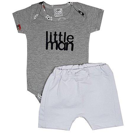 Conjunto Bebê Little Man Cinza
