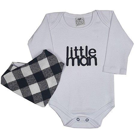Body Bebê Little Man Com Bandana
