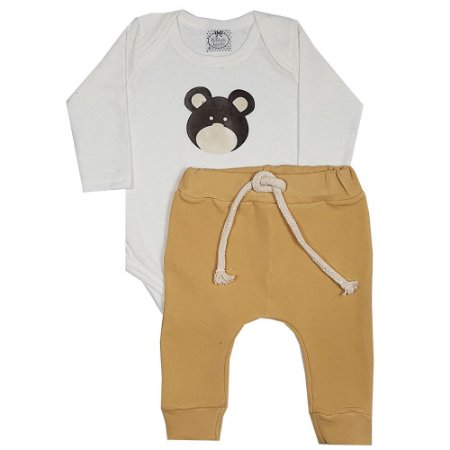 Conjunto Bebê Urso Pimpão