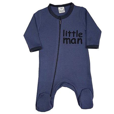 Macacão Bebê Little Man Azul Marinho