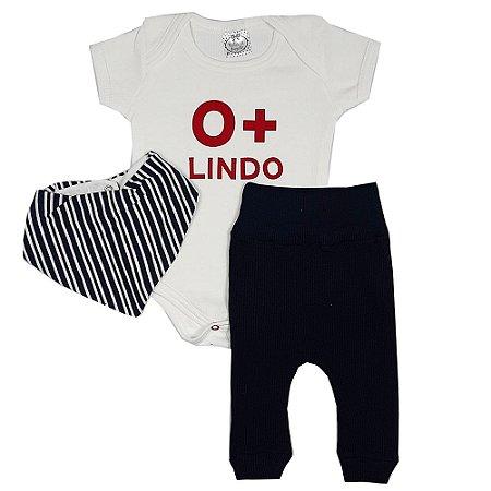 Conjunto Bebê O+ Lindo Com Bandana