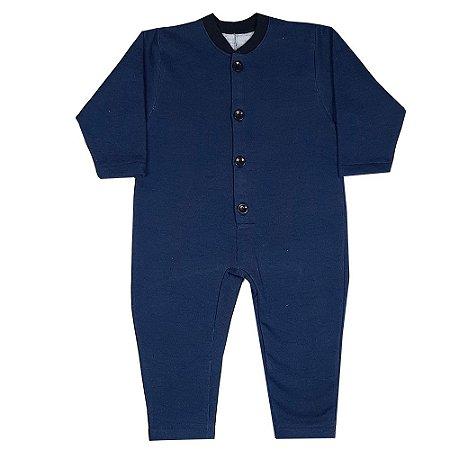 Macacão Infantil Dorminhoco Azul