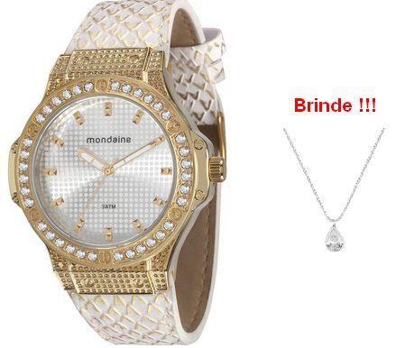 c07c6a99ccf Relógio feminino Mondaine com strass 76355LPMVDH3