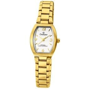ba8575b9ace Relógio champion feminino analógico dourado CA28216H -