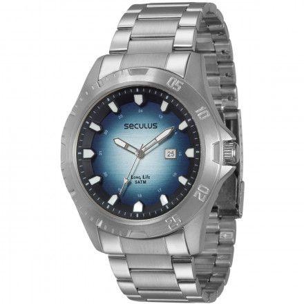 0f8b9bf90e9 Relógio masculino Seculus long life moderno 2 anos de garantia 28421G0SVNA1