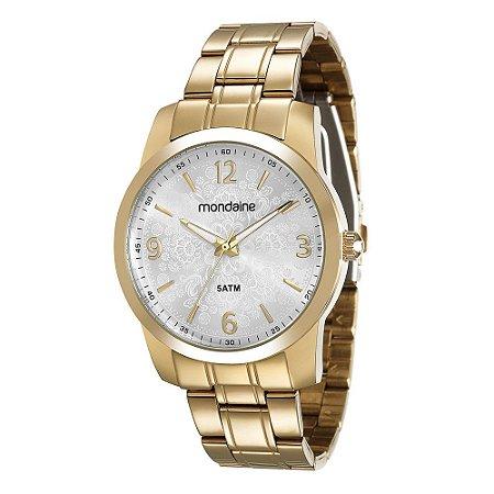 eed08e91e75 Relógio analógico feminino Mondaine dourado 78575LPMVDA1