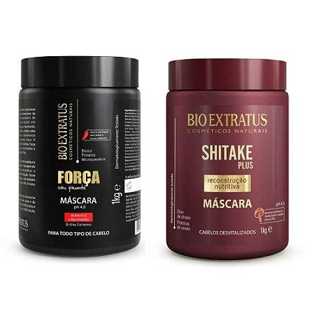 Kit Máscara Força Com Pimenta+ Shitake Plus 1kg Bio Extratus