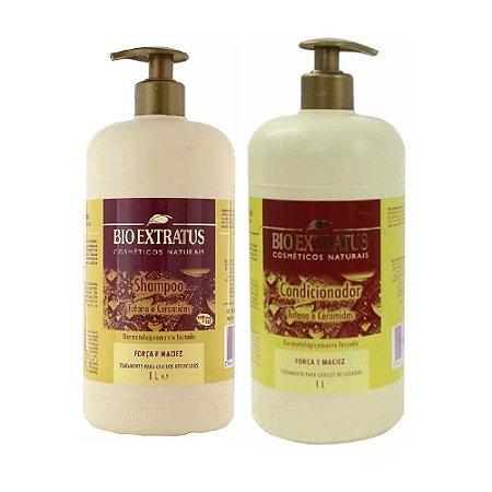 Kit Shampoo Condicionador Tutano Ceramidas 1 L Bio Extratus