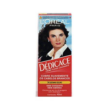 L'Oréal Dedicace Tintura - 34 Castanho Escuro