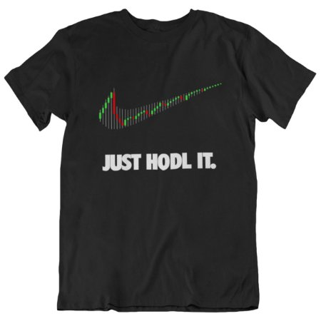 Camiseta Tradicional Just Hodl It - Preta