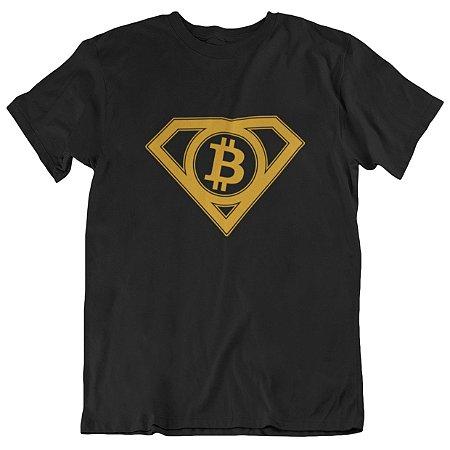 Camiseta Tradicional Super Bitcoin - Preta