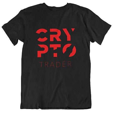 Camiseta Tradicional Crypto Trader Style - Preta