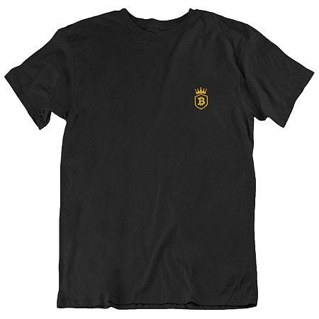 Camiseta 2019 Bitcoin Crown - Preta