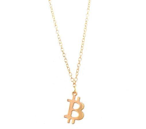 Colar masculino Bitcoin - Dourado
