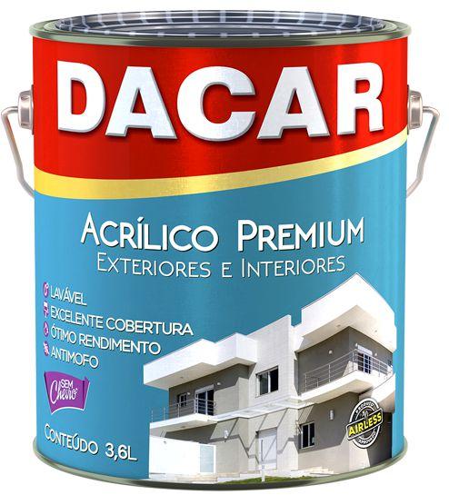 Acrílico Premium Fosco Branco Neve 3,6 L Dacar