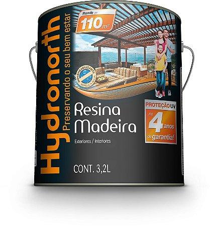 Resina Madeira 3,2 L Incolor Brilhante Hydronorth