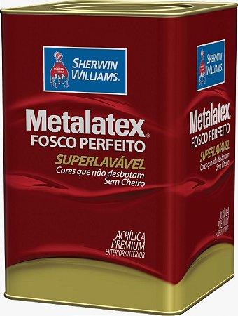 Tinta Metalatex Fosco Perfeito Acrílico Premium Lavável 18 L Sherwin Williams