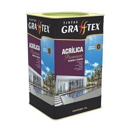 Tinta Acrílica Premium Fosco 18 L Grafftex