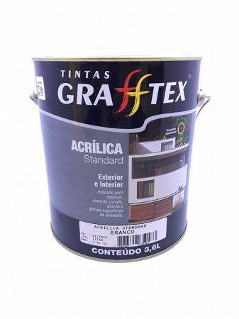 Tinta Acrílica Standard Fosco 3,6 L Grafftex
