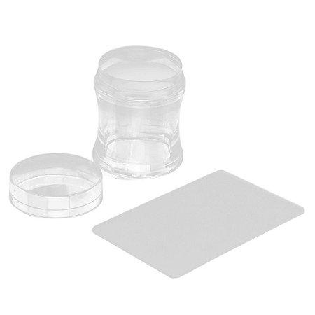Kit carimbo silicone e espatula