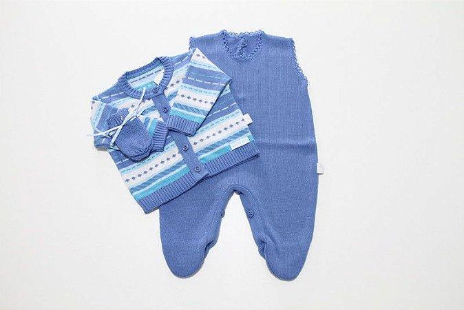 kit macacão, casaco e luva blue