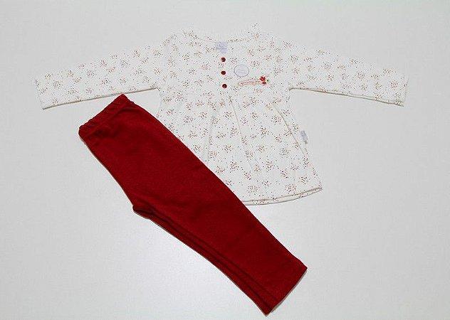 conjunto bata e calça em algodão