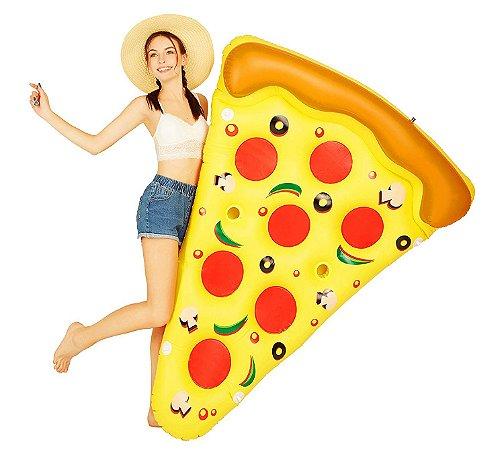 Boia Pizza Gigante Colchão para Piscina