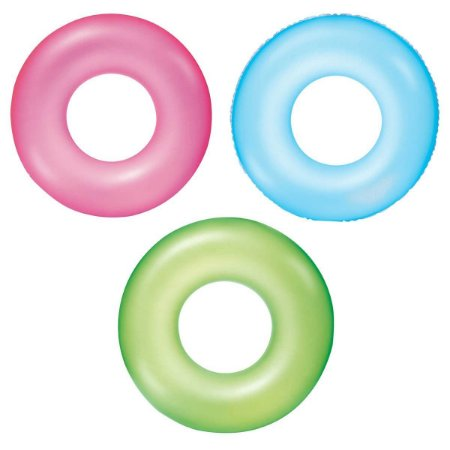 Boia de Piscina Inflável Circular Neon 76 cm