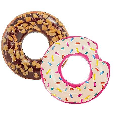 Kit 2 Boias Infláveis Donut Rosquinha Piscina Divertida
