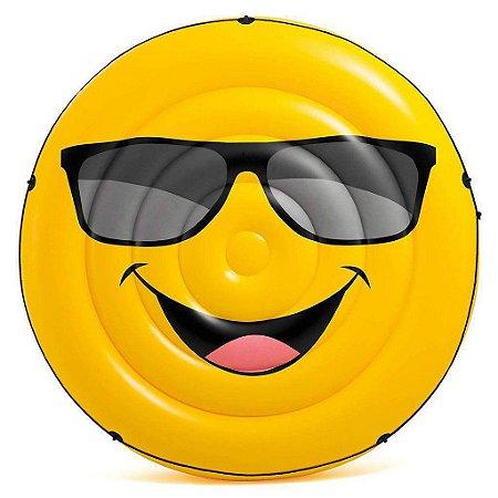 Colchão Gigante Inflável Emoji Para Piscina 173 cm