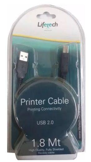 Lifetech Cabo Impressora Usb 2.0 - 1.8m Lfcab001