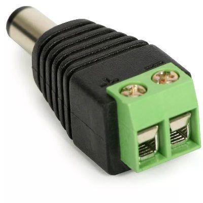 Conector P4 Macho (Borne) com 1 peça Cftv Fonte Câmera Segurança Alarme Som