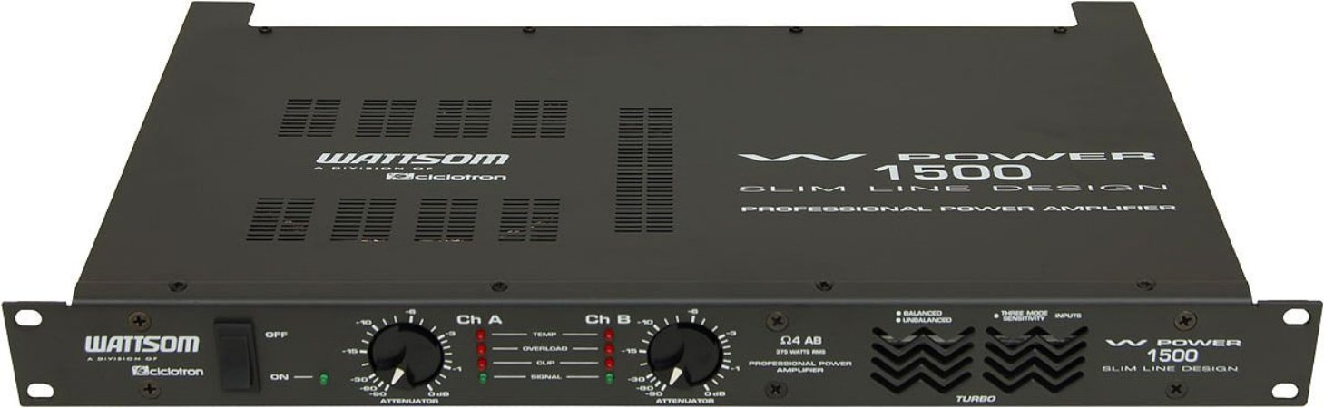 Amplifcador de Potência WP-1500/4 Ohms 375Wrms - CICLOTRON
