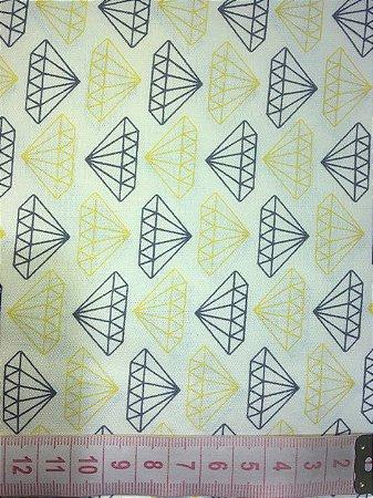 Tecido Diamantes Amarelo
