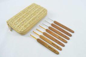 Kit Agulhas de Crochê Bambu