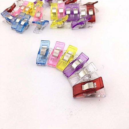 Clips Coloridos Patchwork Pequenos (6 unidades)