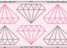 Tecido Diamantes Rosa - Cor 1813