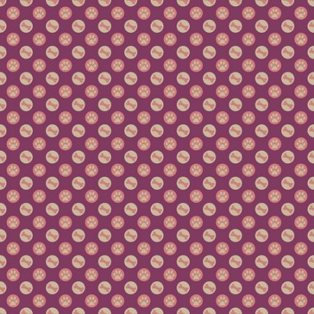 Tecido Patinha no Círculo Uva