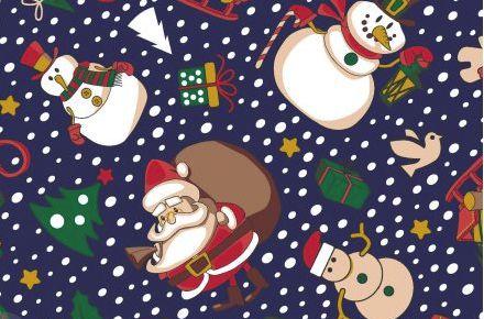 Tecido Papai Noel Azul - Cor 2045