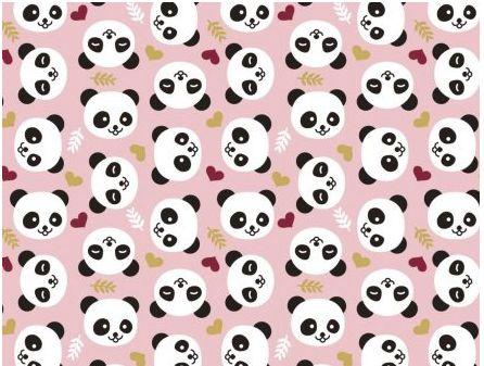 Tecido Pandas Rosa - Cor 2080