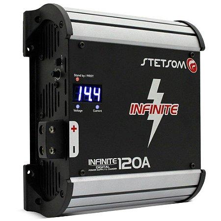 Fonte Automotiva Stetsom Infinite 120A 9000W RMS Bivolt Carregador Digital com Voltímetro Sistema AB
