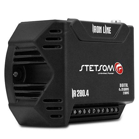 Módulo Amplificador Stetsom Iron Line IR280.4 280W RMS 2 Ohms 4 Canais