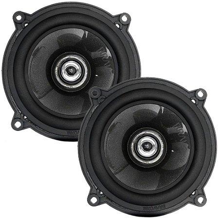 "Par de Alto-Falantes 5"" Bravox Black CX50BK - 60 Watts RMS"