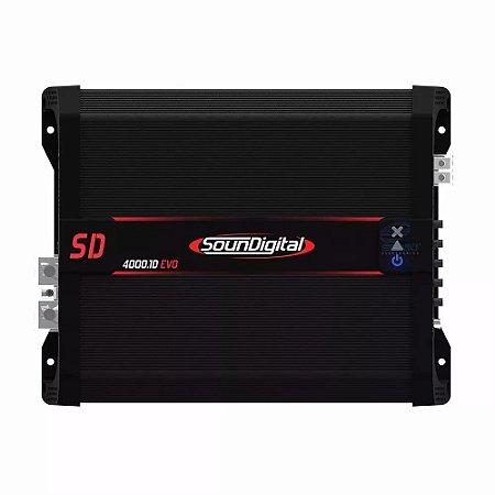 Módulo Amplificador Digital SounDigital SD4000.1D EVO II Black - 1 Canal - 4000 Watts RMS - 2 Ohms
