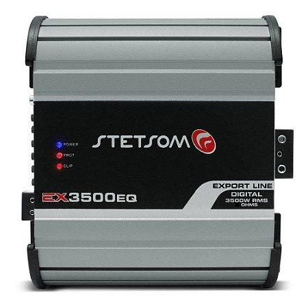 Módulo Amplificador Stetsom Export Line EX 3500EQ 3500W RMS 1 Ohm 1 Canal RCA Digital