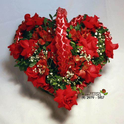 Coração 10 rosas