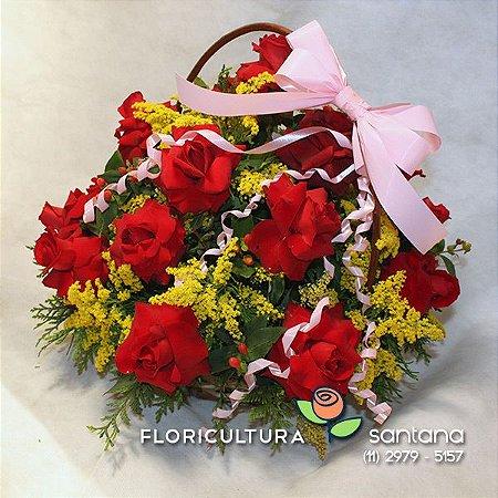 Cesta de Rosas Elegance