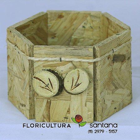 Cachepot Madeira reciclada #2